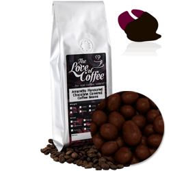 Amaretto Chocolate Covered Coffee Beans | FREE Standard Delivery On Orders Over £25