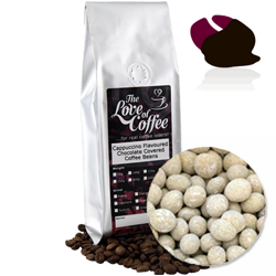 Cappuccino Chocolate Covered Coffee Beans | FREE Standard Delivery On Orders Over £25