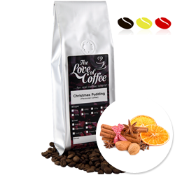 Christmas Pudding Flavoured Coffee | Flavoured Coffee | FREE Standard Delivery On Orders Over £25